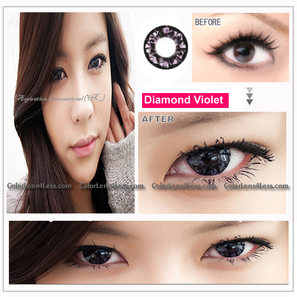 EOS Diamond Violet Colored Contacts (PAIR)